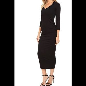 Women's Cotton Lycra  midi dress
